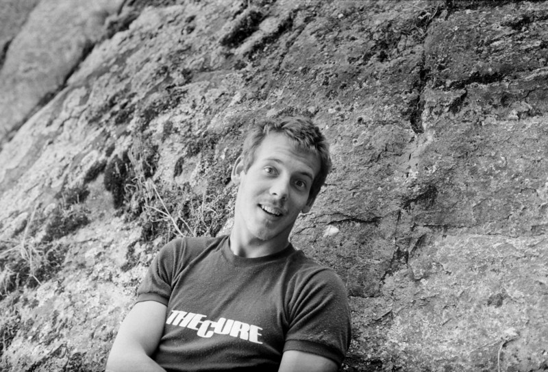 1981. Guy Cotter (NZ) at Mt Arapiles. Guy was a real character.....still is. These days he runs Adventure Consultants in New Zealand and has been to the top of Mt Everest more times than he can probably remember.
