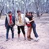 1967. December.  Mt Arapiles. Left to right. Phillip Stranger, Chris Dewhirst, Peter Jackson and Elizabeth Jackson. Photo Chris Baxter.