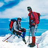 1981. Glenn Tempest and John Crocker on top of Mt Cook. It was my first NZ alpine season and we had just summited from the superb East Ridge.