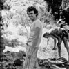 1981. Mike Law at Mt Arapiles. Dennis Kemp sorting gear behind.