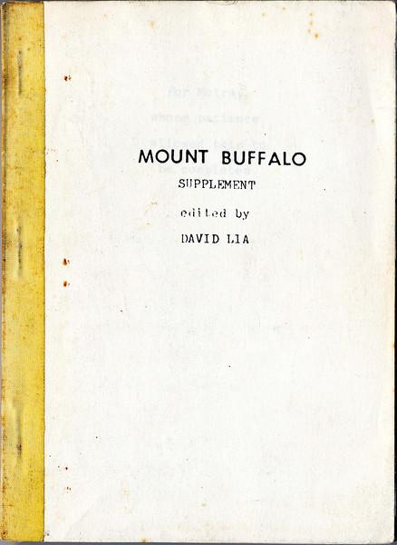 Victoria. Mt Buffalo supplement. David Lia