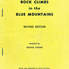 New South Wales. New Rockclimbs in the Blue Mountains Revised Editon by George Owens.