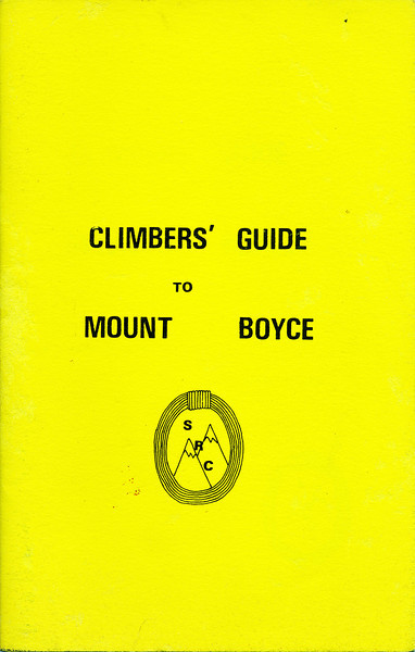 New South Wales. A Climbers Guide to Mount Boyce.Sydney Rockclimbing Club.