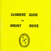 New South Wales. A Climbers Guide to Mount Boyce.Sydney Rockclimbing Club.