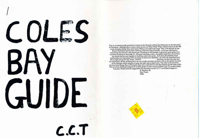 Tasmania. Coles Bay Guide.