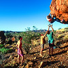 Bouldering at Glen Helen (Alice Springs)
