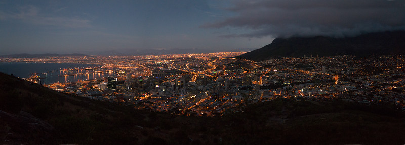 Cape Town Night Panorama