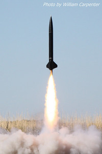 A rocket lifts off for a successful attempt at a level two certification.
