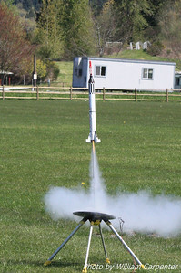 Tim Doll's Mercury Redstone lifts off.