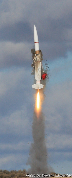 A scale SM-2 missile suffers a blow by.