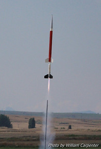 Liftoff on a two-stage Aerobee Hi.