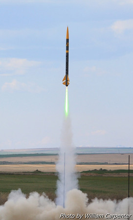 A Wildman Darkstar lifts off on a Level Two certification attempt.