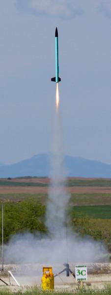 "The maiden flight of Nicole Shriver's ""Saguaro""."