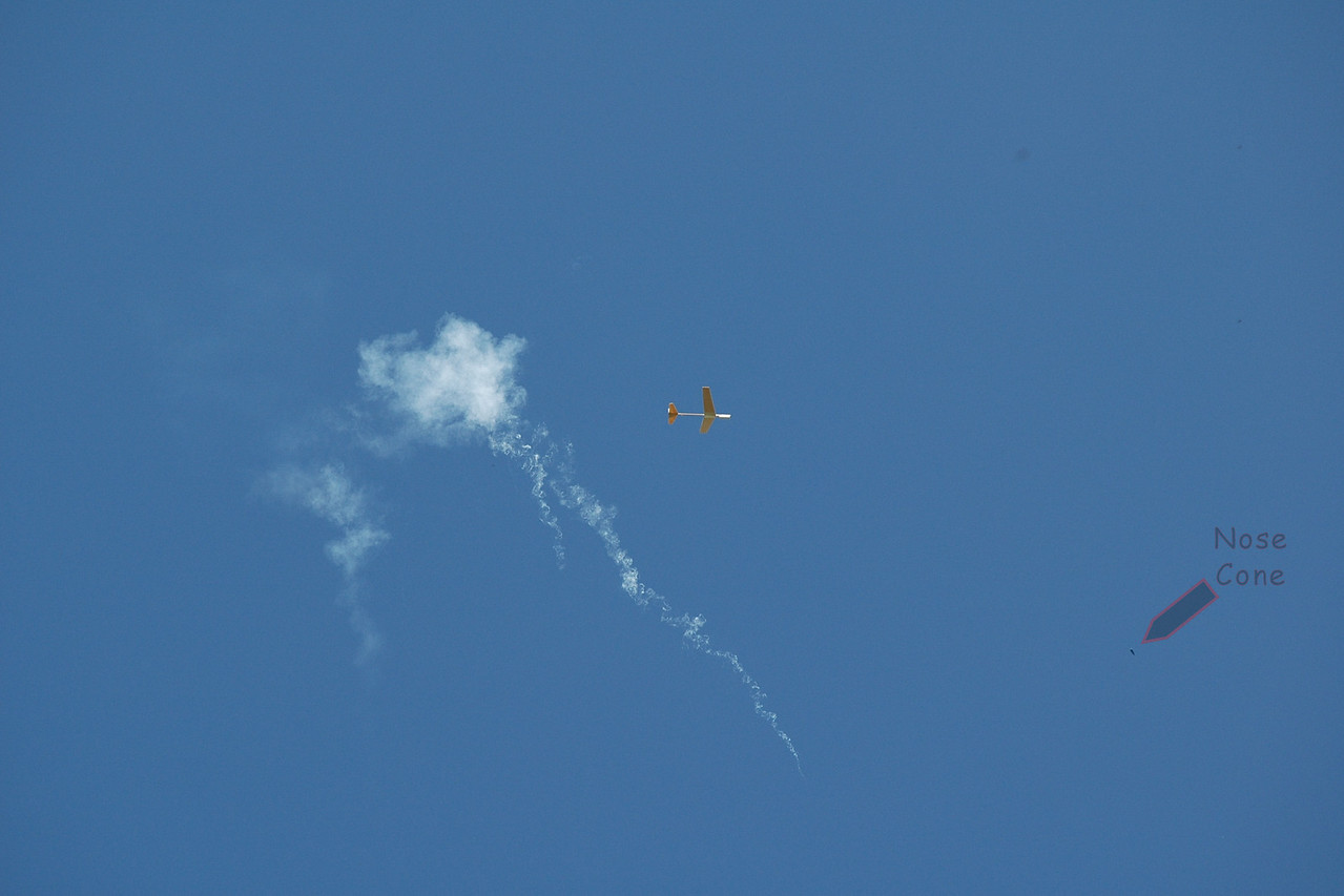 Boost glider, just after motor ejection.