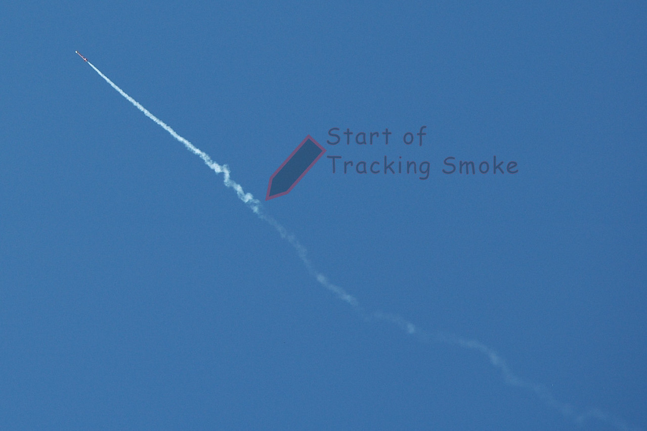 Delay charges are designed to smoke heavily just before burning through and ejecting.