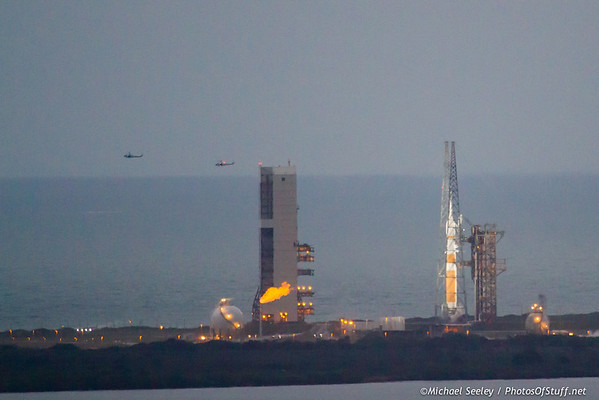 Orion on the pad