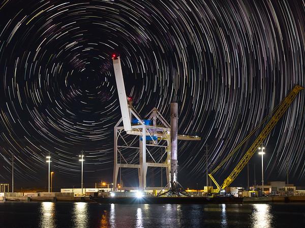 Falcon 9 in Port