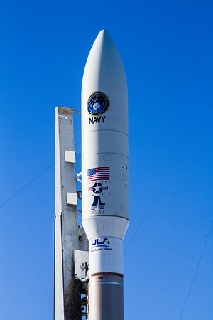 MUOS-3 by ULA, on the pad.
