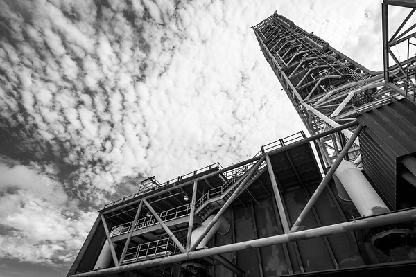 Mobile Launch Platform in black and white