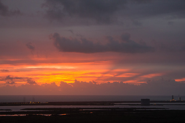 Sunrise + Orion on the pad