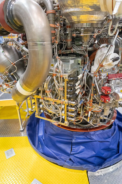 For contrast, here is a look at the Artemis program engine controller being used on the RS-25.