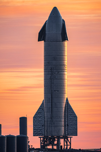 Starship SN8 at sunrise on Dec 9th, 2020