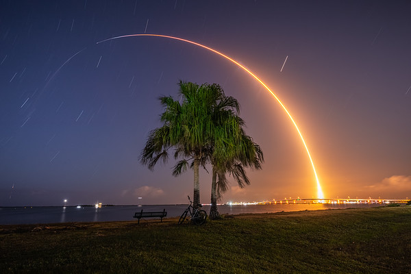 An unproven Falcon 9 rocket (B1062.1) streaks to orbit for the first time, lofting the GPS-III SV04 navigation satellite for the U.S. Space Force.