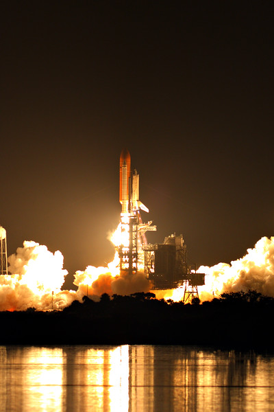 """Liftoff! After nearly a week of lost sleep, driving between Florida's coasts, waiting on buses, and hauling around camera gear, the words """"Main engine start,"""" have never sounded so good."""