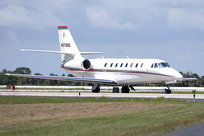 Tuesday, April 26 - A Cessna Citation Sovereign arrives at the SLF ahead of the astronauts.