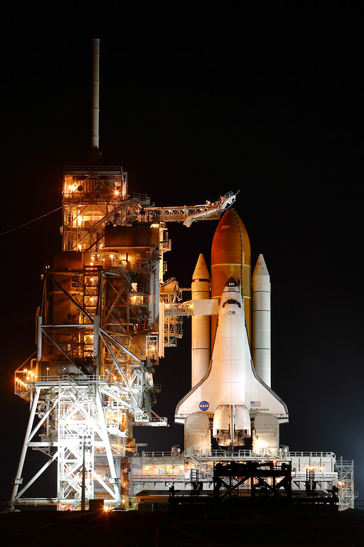 Friday, April 29 - With the RSS pulled away, the shuttle comes into full view.