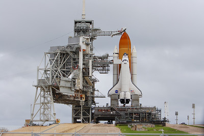 Atlantis seen on the launch pad after RSS Retract.