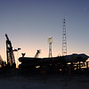 The Soyuz MS-07 rocket rolling up to its launch mount (Gagarin's Start) at sunrise in Baikonur, Kazakhstan on December 15th, 2017. (Photo Credit: Trevor Mahlmann)