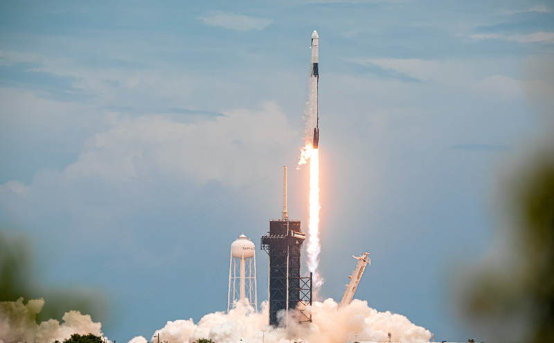 Liftoff of SpaceX's 22nd operational cargo resupply mission to the Space Station for NASA at 1:29:15 p.m. June 3rd, 2021.