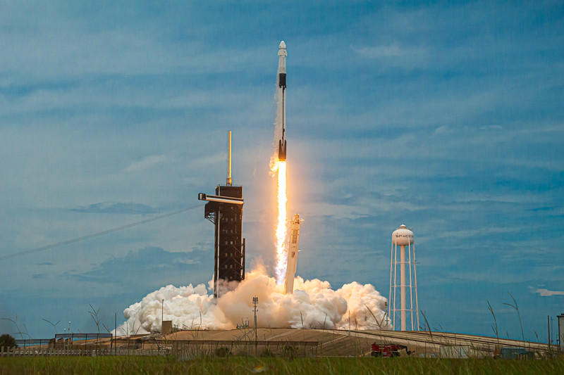 Liftoff of CRS-22. SpaceX's Falcon 9 B1067.1 sending the second upgraded Cargo Dragon resupply mission to the ISS for NASA.