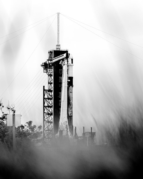 Rainy day at Kennedy Space Center today, it called for a black-and-white.