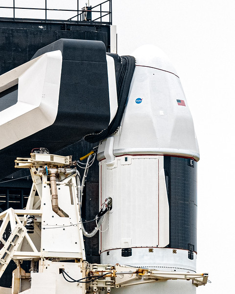 SpaceX now uses the same Access Arm to load both Crew and Cargo depending on the mission, as late as just a few hours before liftoff -- a benefit the previous version of Cargo Dragon did not enjoy.