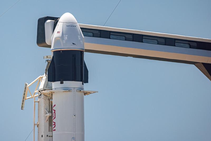 Astronauts Shane Kimbrough (NASA) Megan McArthur (NASA) Akihiko Hoshide (JAXA) and Thomas Pesquet (ESA) will ride SpaceX's Falcon 9 inside Crew Dragon to orbit tomorrow at 5:49:02am.