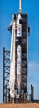 512 megapixel, midday panorama of Falcon 9 B1061 ready to fly the Crew-2 mission to the ISS for NASA.