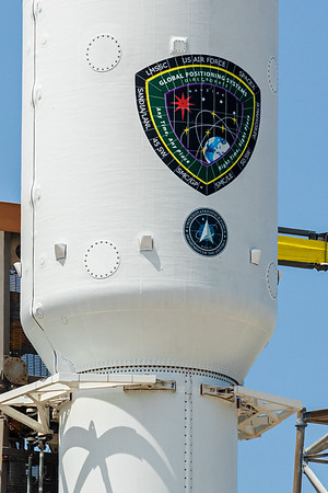 The first time the United States Space Force logo has graced the SpaceX Falcon 9 payload fairing.