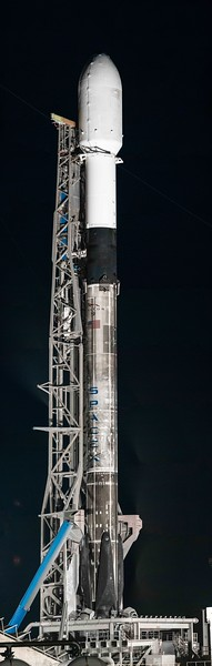 338.8 megapixel panorama of SpaceX Falcon 9 B1049.6