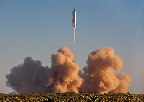 SpaceX's Starship SN8 launches from the sands of Boca Chica, TX on December 9th, 2020.