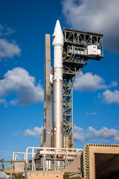 Atlas V is flying in the 401 configuration meaning it has a 4-meter fairing, 0 strap on solid-rocket boosters, and 1 Centaur upper stage engine. Atlas V will fly to space solely on the power of the RD-180.
