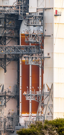 155.6 megapixel panorama of the lower portion of the Delta IV Heavy inside the MST.