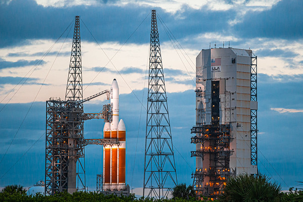 Delta IV Heavy with the NROL-44 payload after a scrubbed launch attempt on Sept 30th, 2020.