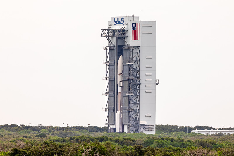 The Mars 2020 'Perseverance' rover, emerging from the VIF at United Launch Alliance's SLC-41 in preparation of a July 30th launch at 7:50 AM ET.