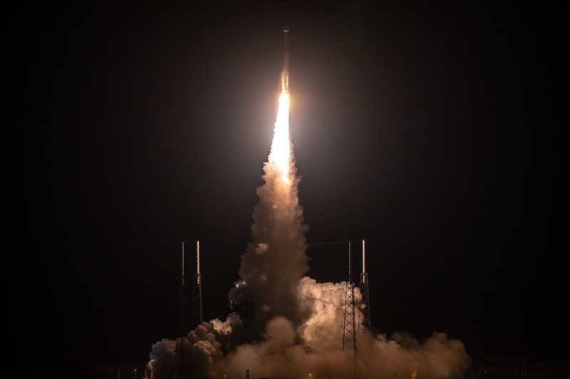 Liftoff of the United Launch Alliance Atlas V rocket carrying the joint ESA/NASA Solar Orbiter spacecraft.
