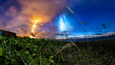 Starlink Blasts into the Predawn Sky