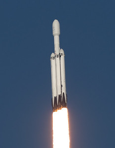 SpaceX Falcon Heavy - Arabsat 6A - Ascent