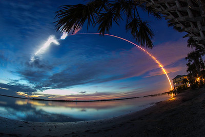 CRS-15 Lights Up the Predawn Sky