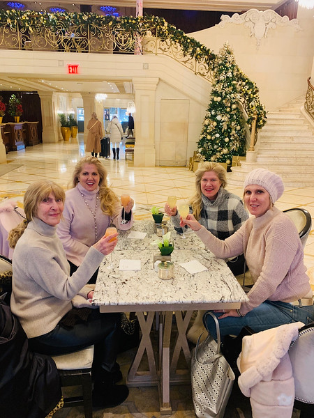 Taking a shopping break at the iconic hotel, The Plaza